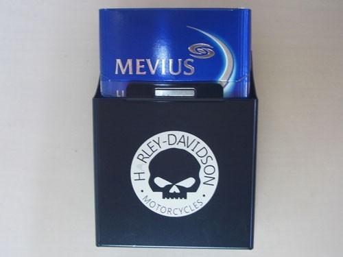 【新品・即決】シガレットケース HARLEY-DAVIDOSON スカル たばこケース たばこ入れ 缶 黒 ハーレー シガレット 金属 定形外発送可_画像2