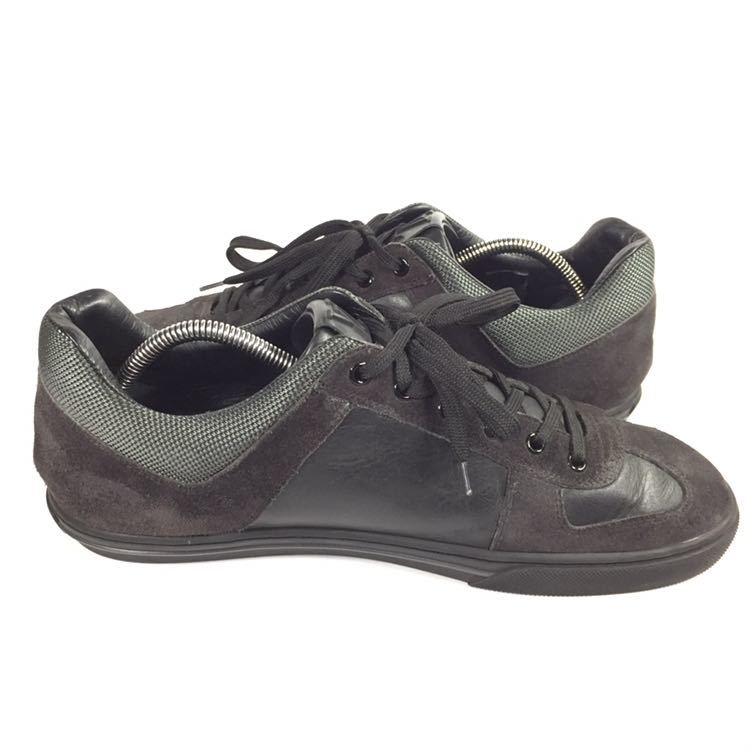 【ルイヴィトン】本物 LOUIS VUITTON 靴 26cm 黒 LVロゴ スニーカー カジュアルシューズ レザー×スエード 男性用 メンズ イタリア製 7_画像7