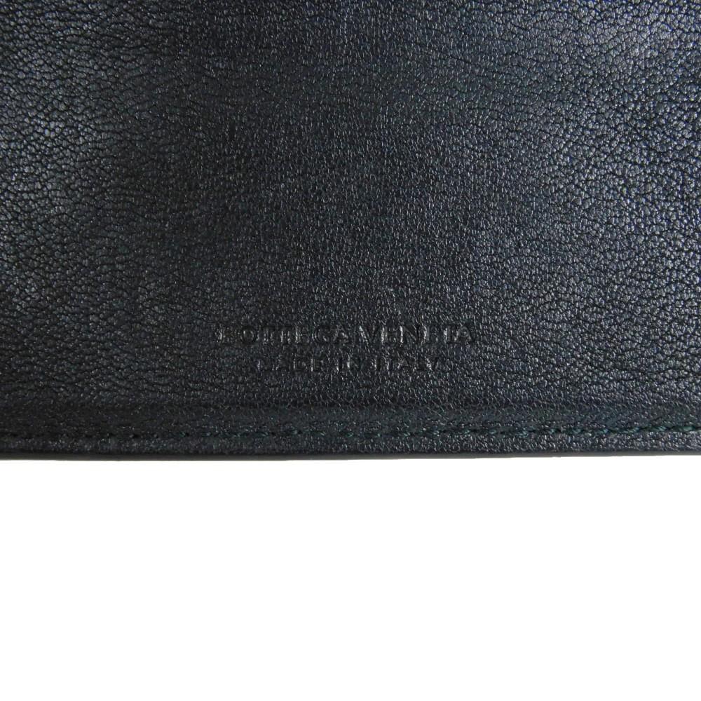 ボッテガヴェネタ コンパクトウォレット トリコロール イントレチャート 二つ折り財布 193642_画像6