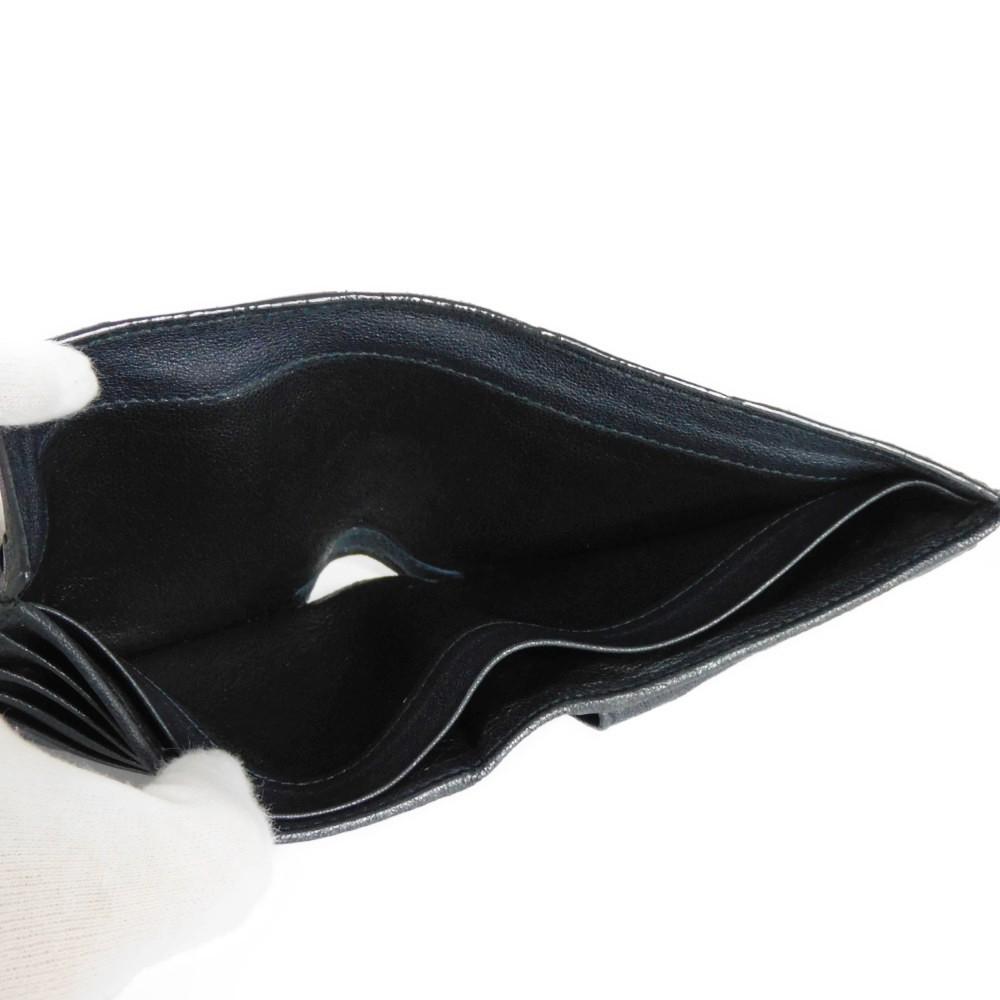 ボッテガヴェネタ コンパクトウォレット トリコロール イントレチャート 二つ折り財布 193642_画像7