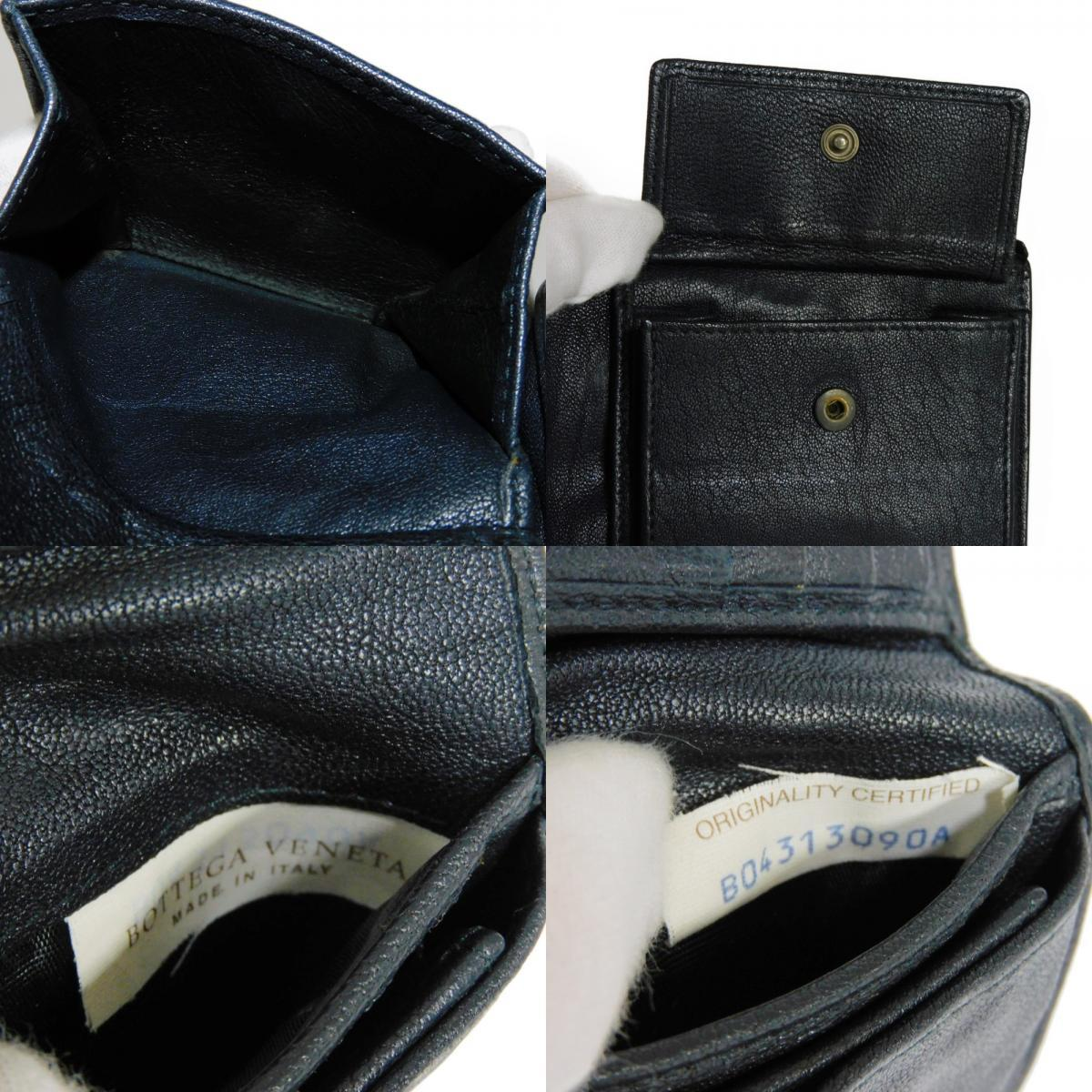 ボッテガヴェネタ コンパクトウォレット トリコロール イントレチャート 二つ折り財布 193642_画像8