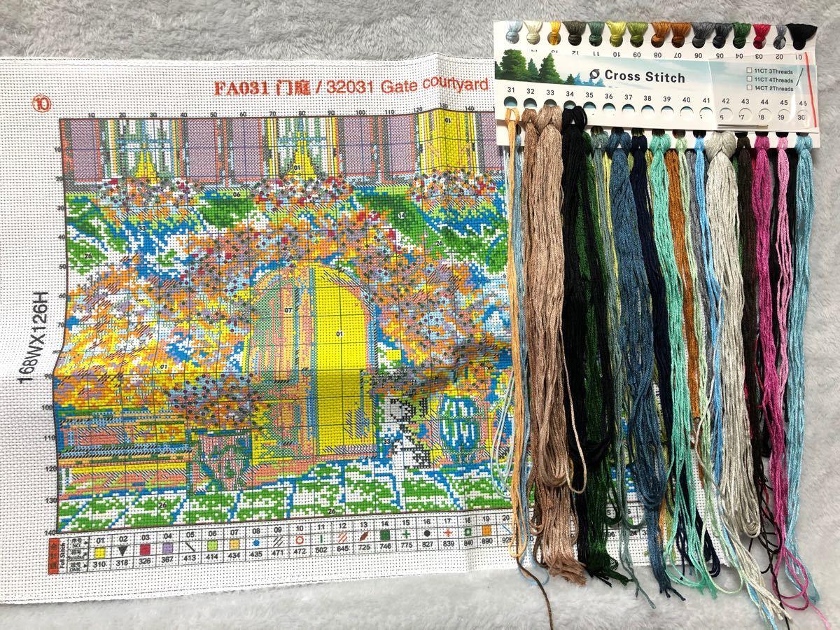 クロスステッチ刺繍キット(FA031)14CT