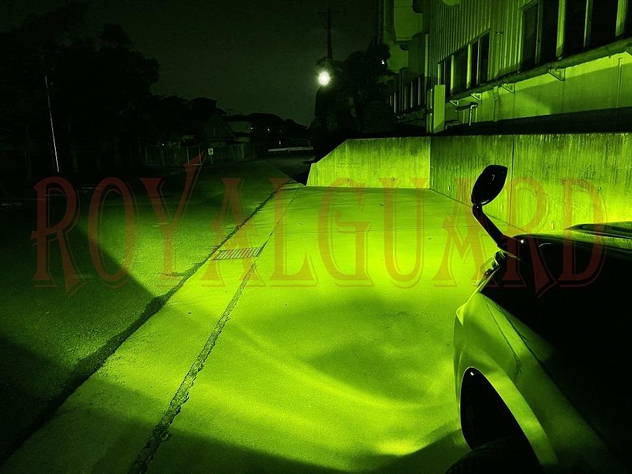 他店36000LMより明るい 世界最高光量 フィルム無 国産ブランド ロイヤルガード イエロー ライムイエロー LEDフォグ H8 H11 H16 HB4 PSX26W_画像8