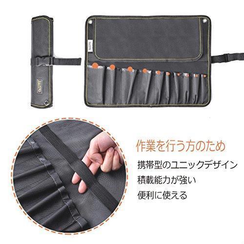 新品!! FASITE ツールバッグ 工具差し 工具袋 技術者用 作業工具 ポーチ 工具袋 ベルト付きQ7UI_画像6