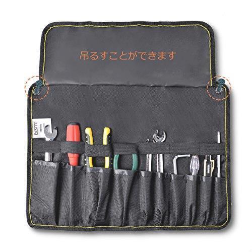 新品!! FASITE ツールバッグ 工具差し 工具袋 技術者用 作業工具 ポーチ 工具袋 ベルト付きQ7UI_画像7
