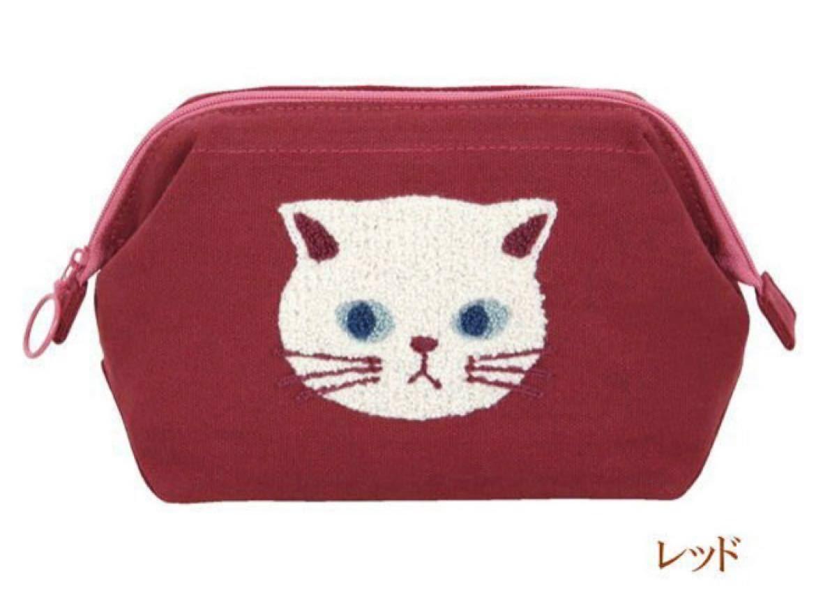 ポーチ がま口ポーチ 化粧ポーチ  ねこ ネコ 猫柄 猫雑貨 猫グッズ ファミネコ
