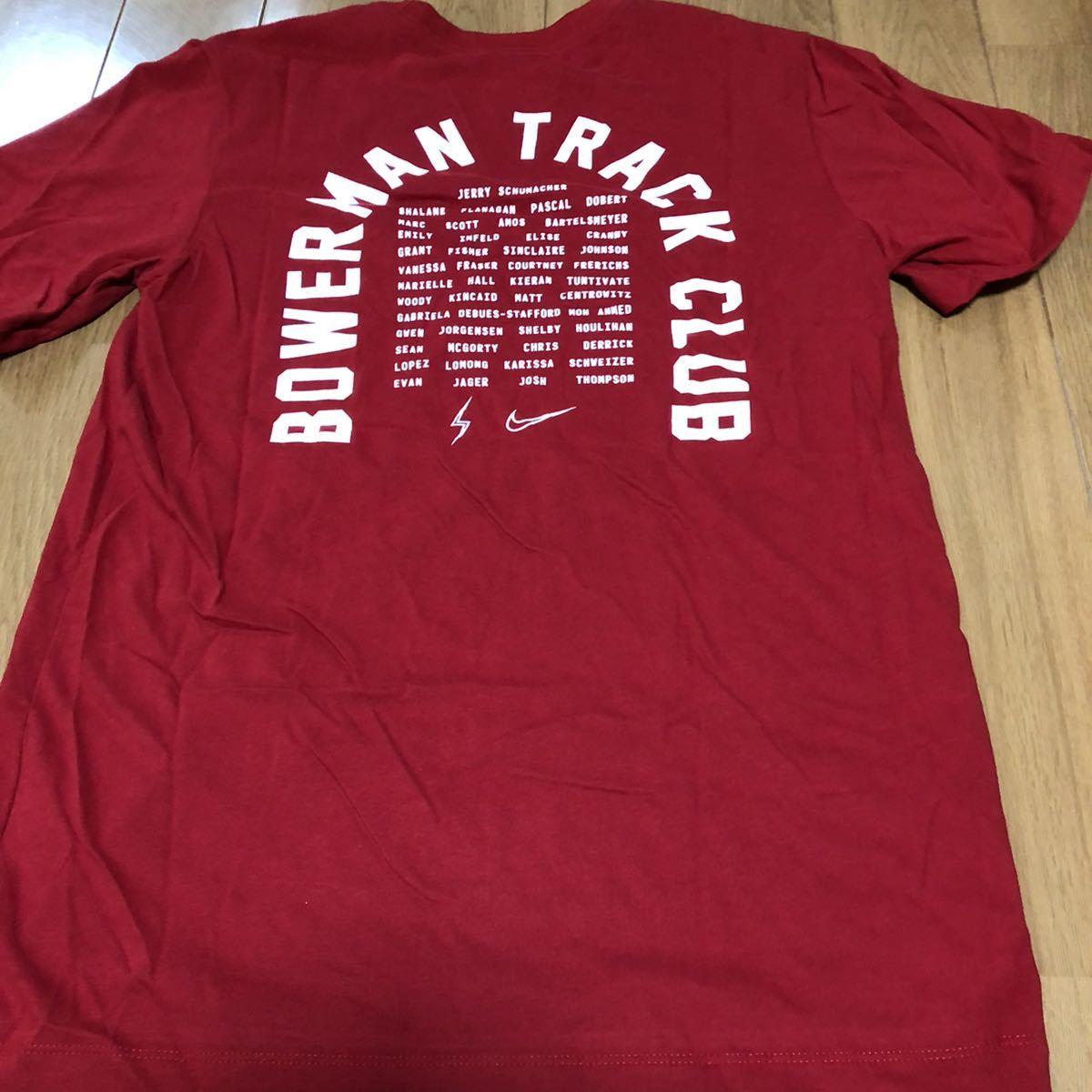 NIKE ナイキ Bowerman track club バウワーマントラック 赤 ランニングウェア 半袖Tシャツ ランニング マラソン ジョギング 陸上部