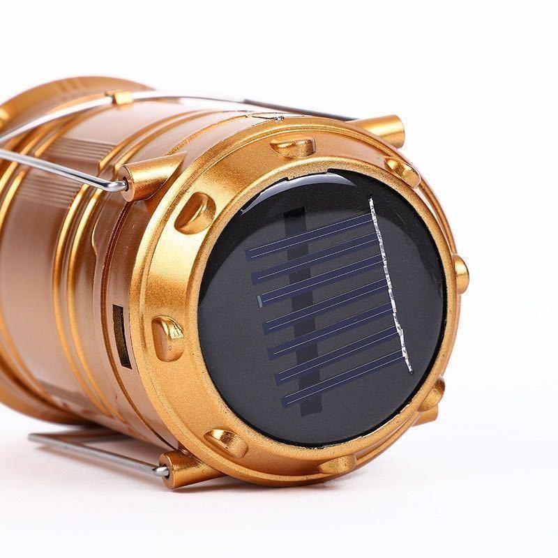 【新品・送料無料】LEDランタン 懐中電灯 ソーラーパネル搭載 ソーラー充電 usb充電式 2in1給電方法 防災 携帯 ポータブル