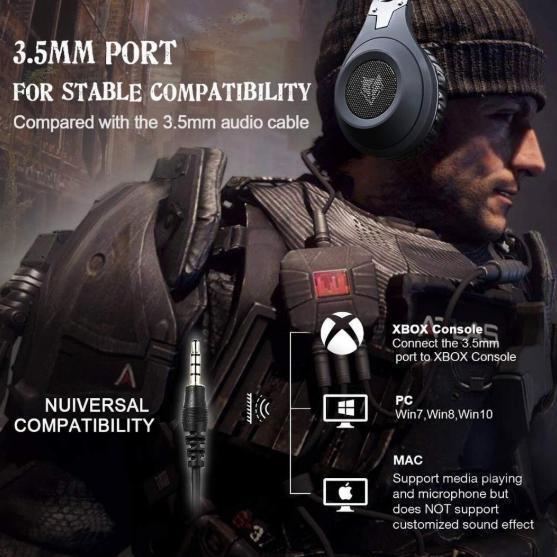 【お得品】ゲーミングヘッドセット FPS TPS アクション 高性能 高音質 PC/windows/Mac/PS4/XBOX/NINTENDO ブラック_画像3