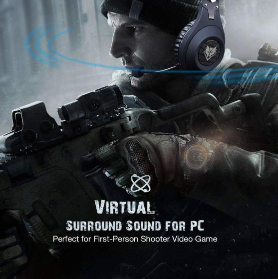 【お得品】ゲーミングヘッドセット FPS TPS アクション 高性能 高音質 PC/windows/Mac/PS4/XBOX/NINTENDO ブラック_画像6