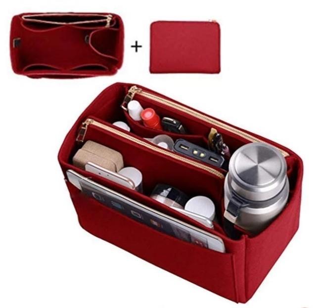 ブラック バッグインバッグ インナーバッグ フェルト 軽量 大容量 収納ボックス 収納バッグ 高級感