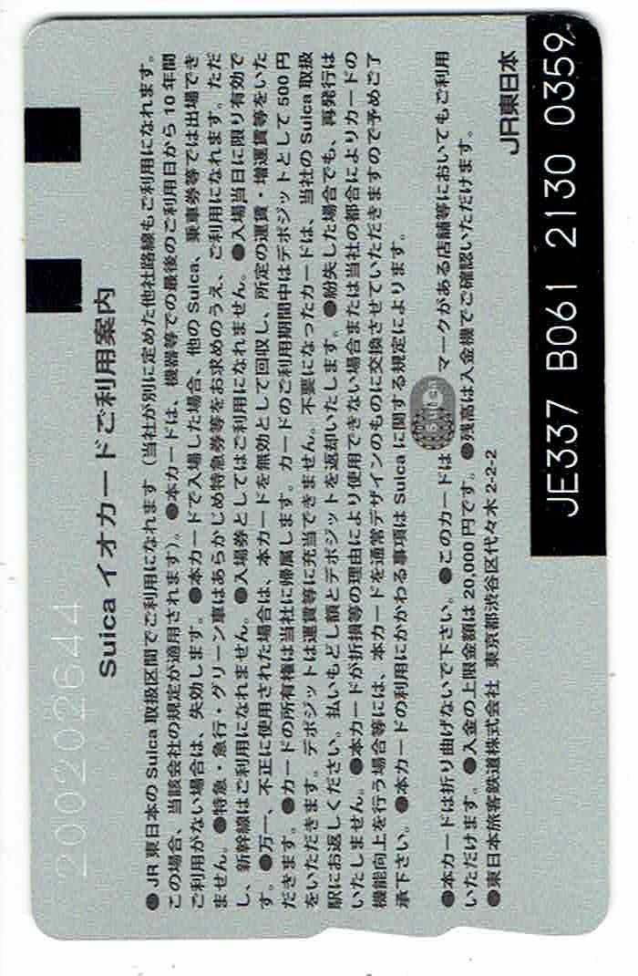 suicaイオカード★TOKYO STATION CITY★新品同様★チャージ残高24円★台紙付き★再チャージ・使用可_画像2