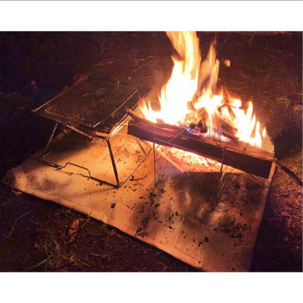 焚き火台と焚火台シート 大人気の2点セット!キャンプ ソロキャンプ