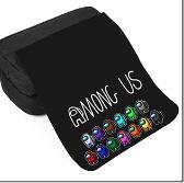 AMONG US アマングアス ポーチ ペンケース アモングアス 筆箱 黒 メイクポーチ 化粧ポーチ メイク道具入れ 化粧道具入れ 誕生日プレゼント
