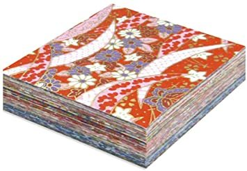 7.5×7.5cm 【Amazon.co.jp 限定】和紙かわ澄 千代紙 友禅和紙 7.5×7.5cm 100柄各1_画像1