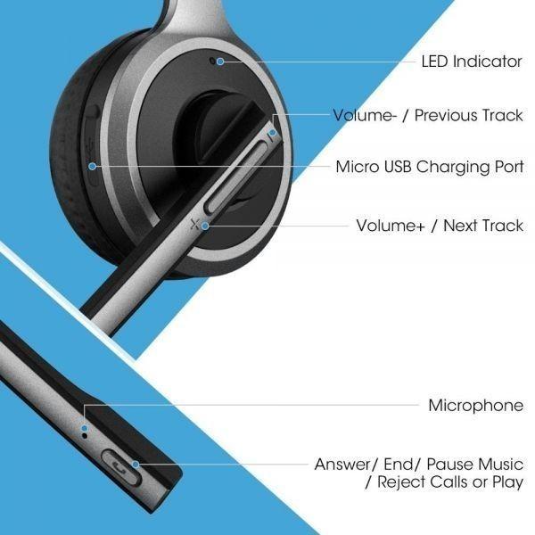 ◇衝撃価格◇Mpow M5 Bluetooth V4.1 ヘッドセット ワイヤレス ヘッドフォン ハンズフリー通話 イヤホンマイク付き_画像4