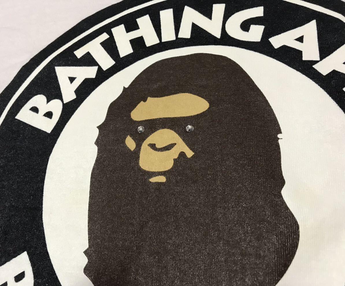 A BATHING APE ラインストーン カレッジロゴ Tシャツ M レア BAPE エイプ busy works nigo