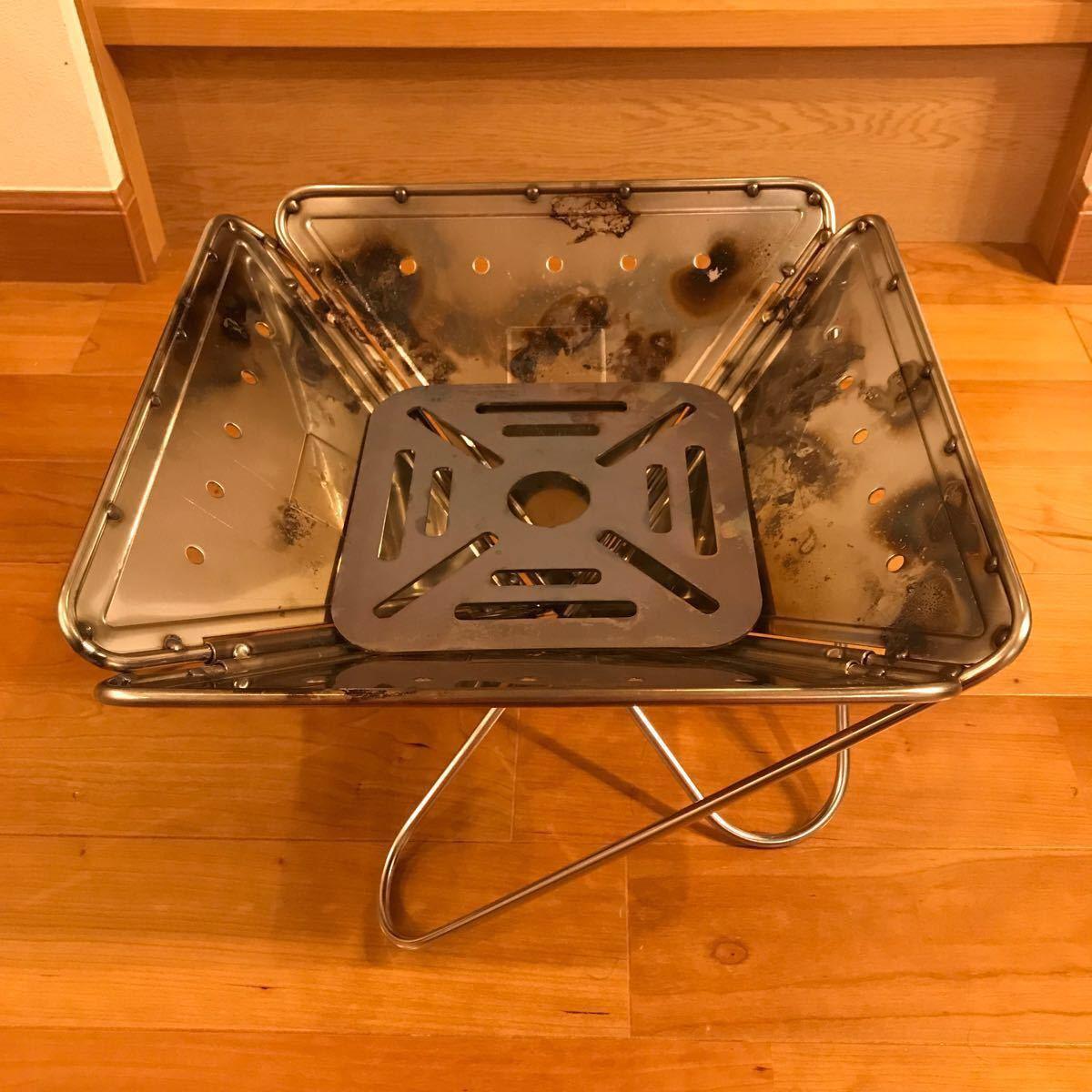 スノーピーク  焚き火台 M  セット 廃盤旧デザイン収納バック付き