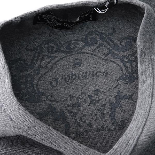 新品 オロビアンコ イタリア製 ラグラン Vネック 半袖 ニットソー S 灰 【I52936】 Orobianco Tシャツ 春夏 メンズ サマー カットソー_画像4
