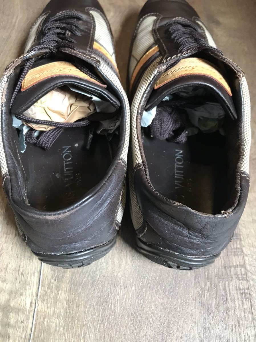 《JUNK!!》ルイヴィトン LV LOUIS VUITTON スニーカー 靴 ハイブランド 高級_画像9