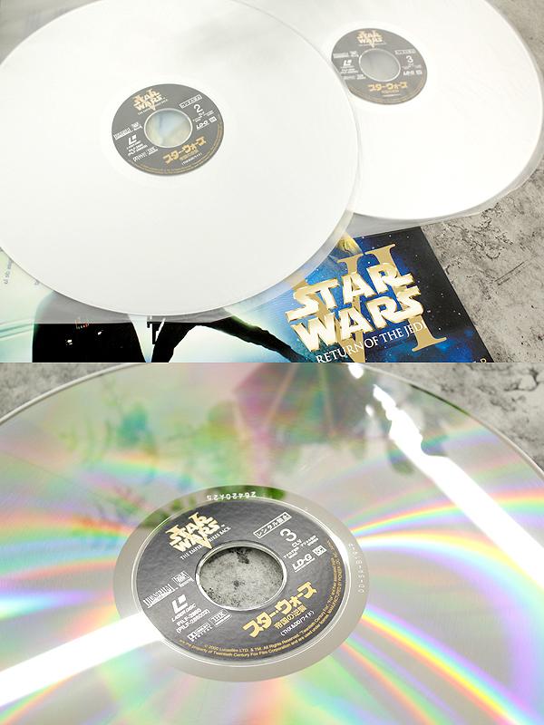 パイオニアLDC 株式会社 STARWARS TRILOGY/スターウォーズトリロジー レーザーディスク6枚組 白(C-3PO)&黒(ダースベイダー)のBOX LD_画像6