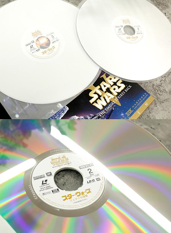 パイオニアLDC 株式会社 STARWARS TRILOGY/スターウォーズトリロジー レーザーディスク6枚組 白(C-3PO)&黒(ダースベイダー)のBOX LD_画像5