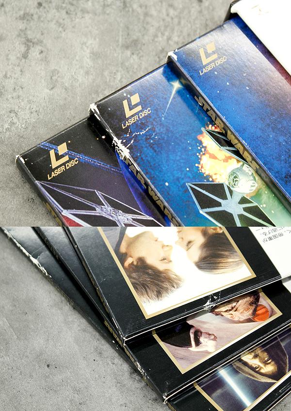 パイオニアLDC 株式会社 STARWARS TRILOGY/スターウォーズトリロジー レーザーディスク6枚組 白(C-3PO)&黒(ダースベイダー)のBOX LD_画像9