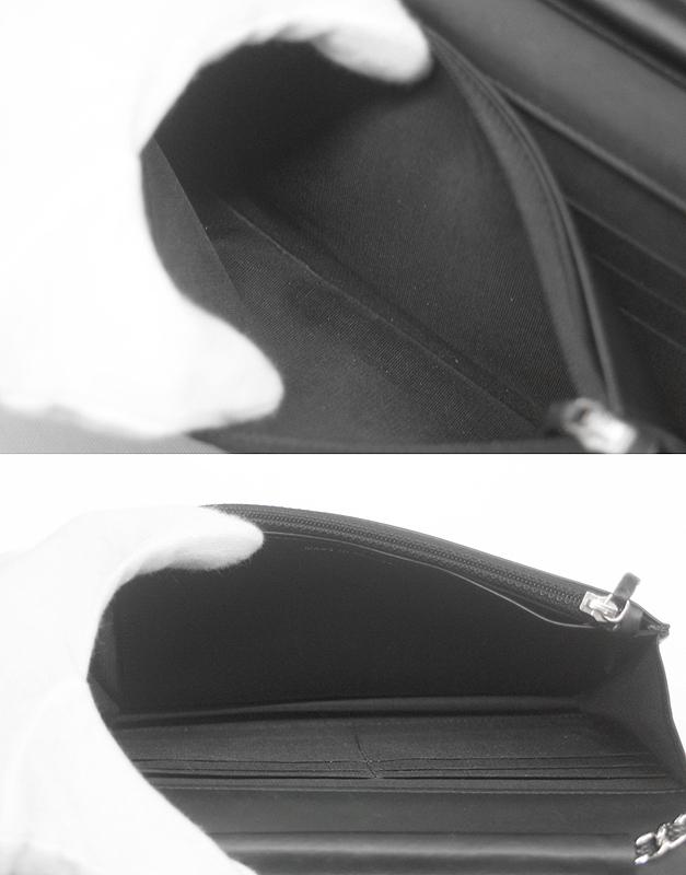 CHANEL/シャネル チェーンウォレット キャビアスキン ブラック 黒 SV 斜め掛け ココマーク レディース A48654 ギャラ 箱付_画像6