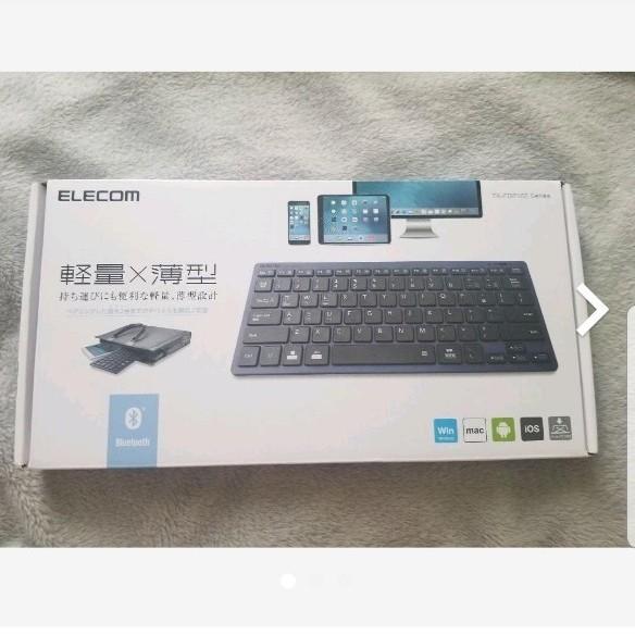 【ほぼ未使用】ELECOM TK-FBP102BU ブルー ワイヤレスキーボード