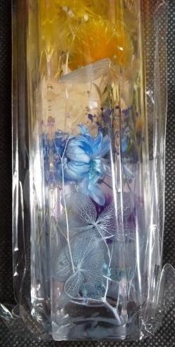 新品 ハーバリウム 完成品 虹 ドライフラワー インテリア 瓶 飾り オブジェ ギフト プリザーブドフラワー 置物 花 花の飾り_画像2