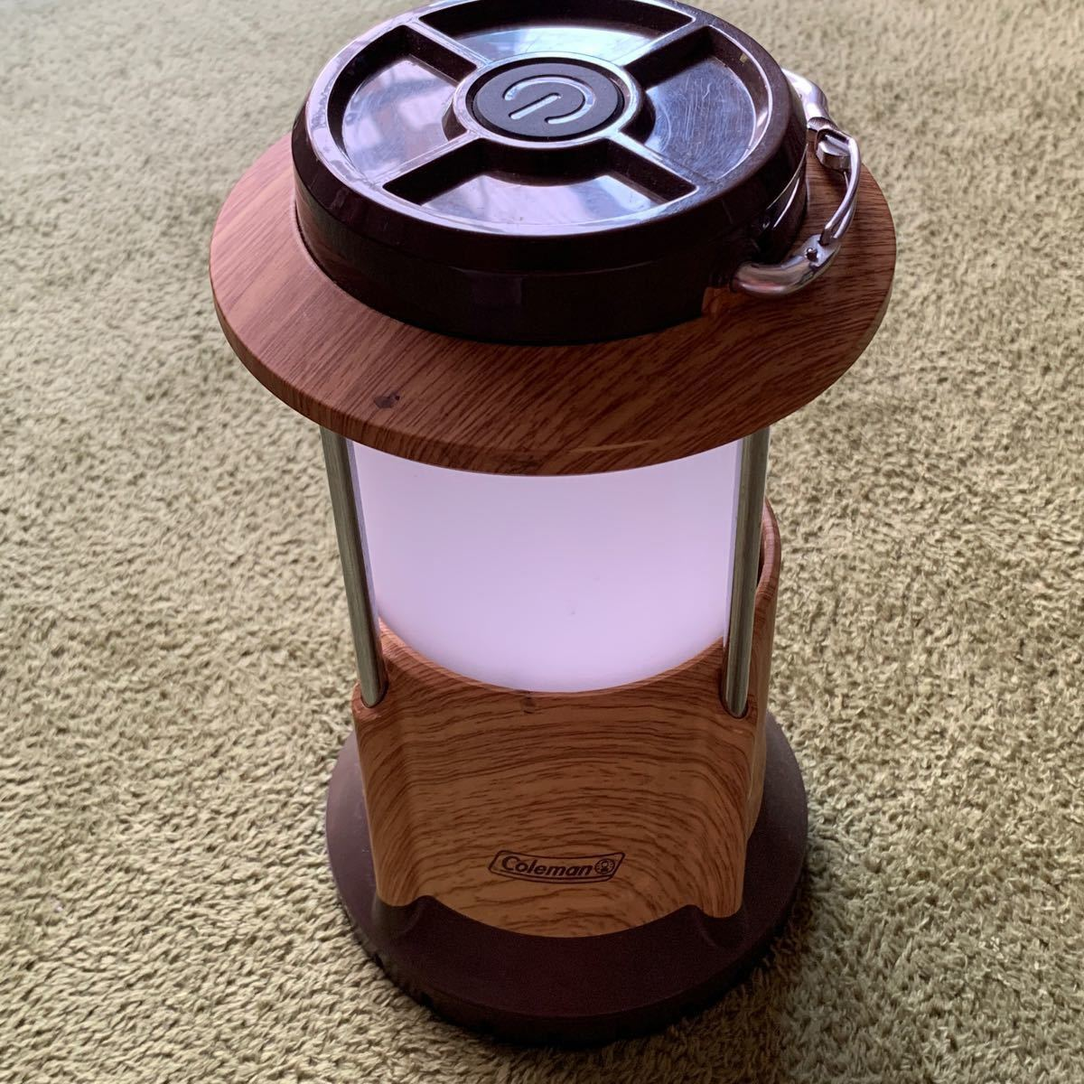 コールマン Coleman ライトバッテリーロックパックアウェイランタン ナチュラルウッド 電池式