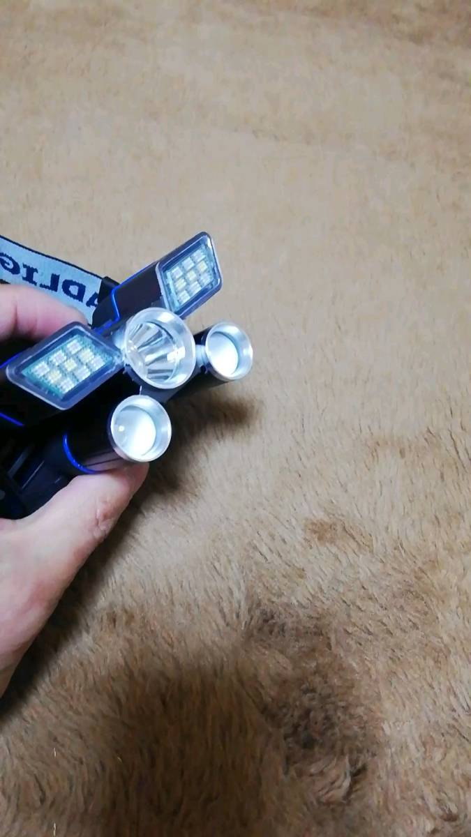 LEDヘッドライト 、USB 高輝度 充電式、9つ点灯モード