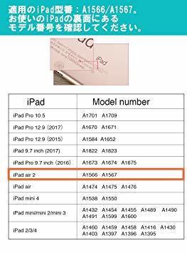 ミント ESR iPad Air2 ケース 軽量 薄型 オートスリープ スタンド機能 半透明ー PUレザー 傷つけ防止 三つ折_画像2