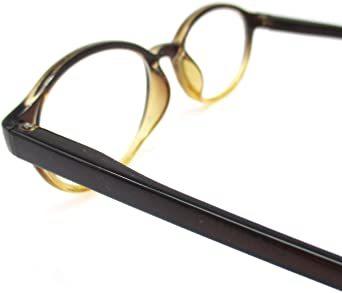 ブラウン 3.50 Strength レトロ 老眼鏡 ボストン リーディンググラス 非球面 レンズ シニアグラス_画像6
