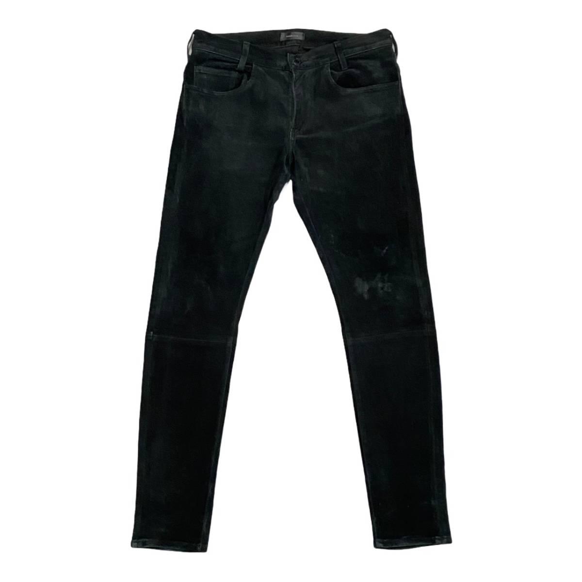 36-45)アンダーカバー 15ss スウェードレザーパンツ ブラック メンズ2 undercover ARTSCABUT 6852 デニム