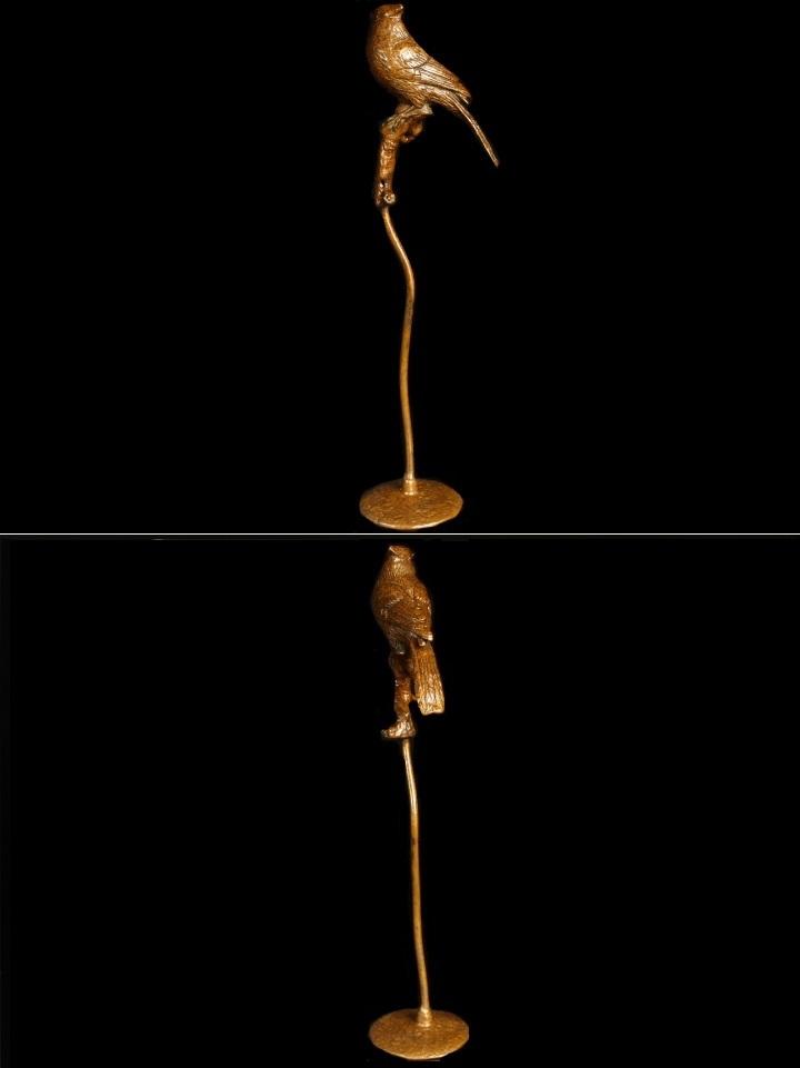 【最上】極上 初だし 金工細工 古銅製 鶯 鳥 香炉 置物 細密造 煎茶飾 置物 盆景 煎茶道具 古美術品_画像3