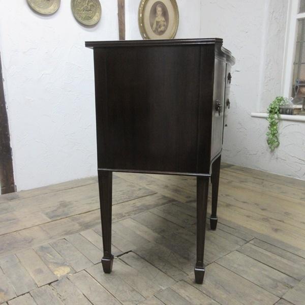 イギリス アンティーク 家具 サイドボード キャビネット 食器棚 飾り棚 収納 木製 マホガニー 英国 SIDEBOARD 6924b_画像9