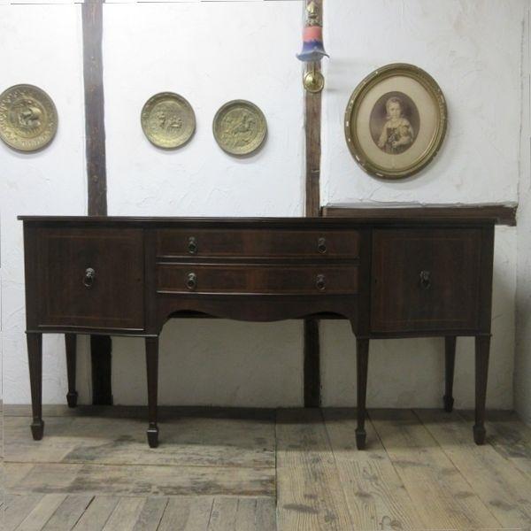 イギリス アンティーク 家具 サイドボード キャビネット 食器棚 飾り棚 収納 木製 マホガニー 英国 SIDEBOARD 6924b_画像3