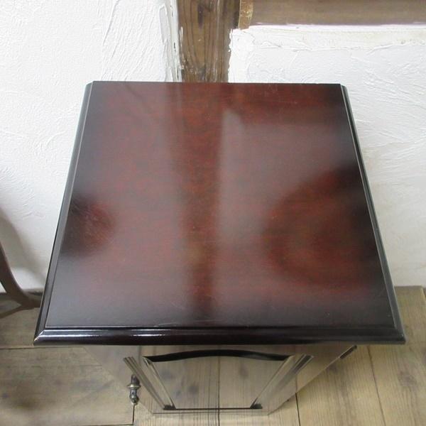 イギリス ビンテージ 家具 サイドキャビネット ベッドサイドキャビネット 収納 飾り棚 木製 英国 SMALLFUNITURE 6931b_画像4