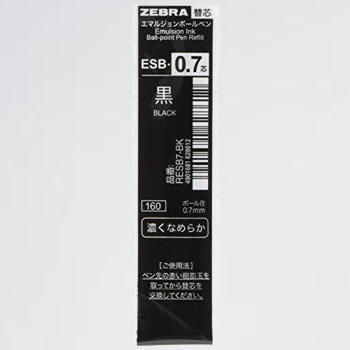 新品 好評 油性ボ-ルペン替芯 ゼブラ T-JM 10本 B-RESB7-BK シャ-ボ ESB-0.7芯 黒_画像1