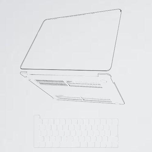 新品 未使用 【2021改良型】Macbook 4-NS 対応 (クリア) 13 インチ 全面保護 排熱口設計 JIS-キ-ボ-ドカバ- 付き 薄型 耐衝撃性_画像1