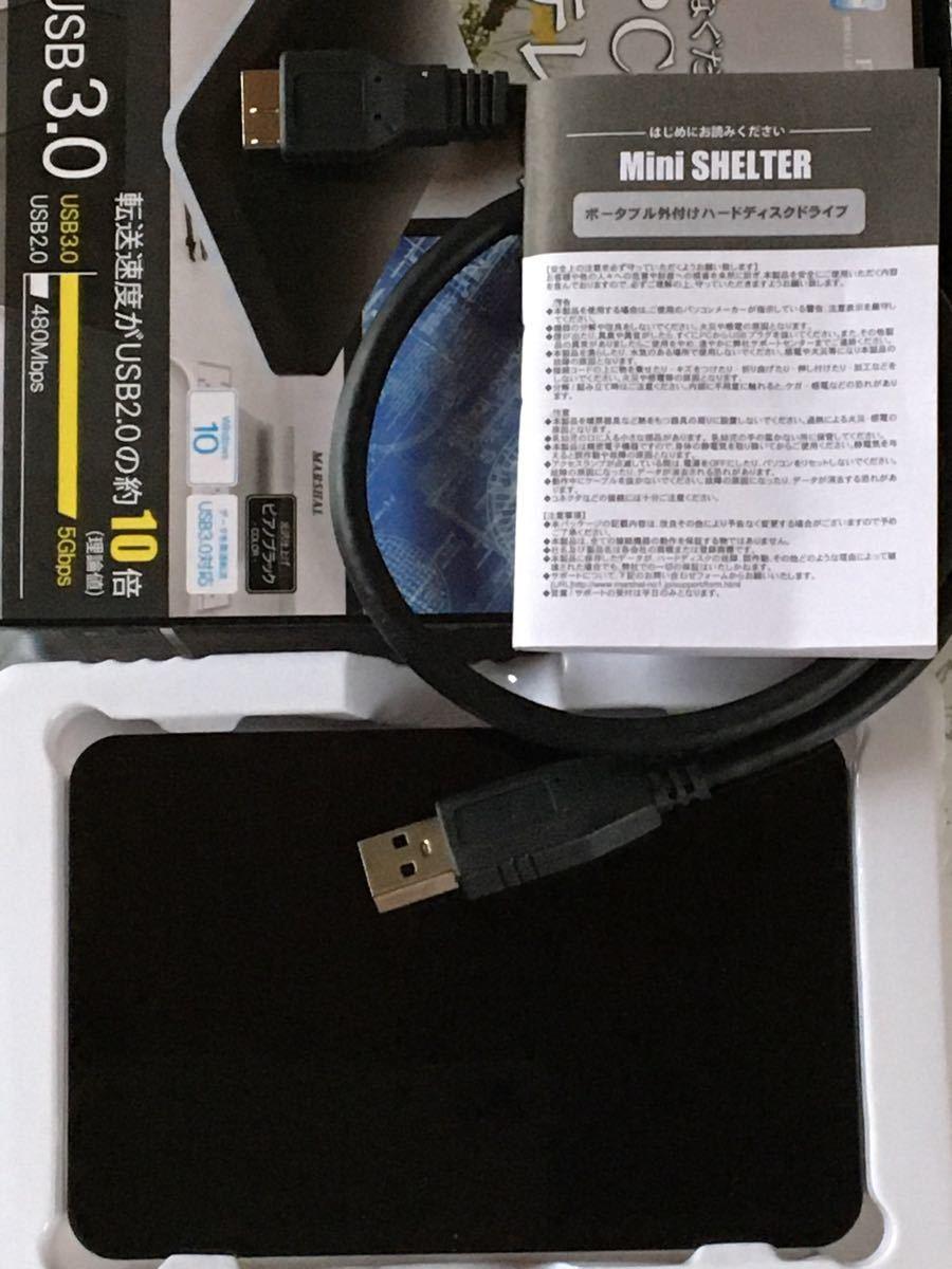 外付け HDD ハードディスク 500GB Windows10対応 TV録画 REGZA ポータブル ブラック 薄型