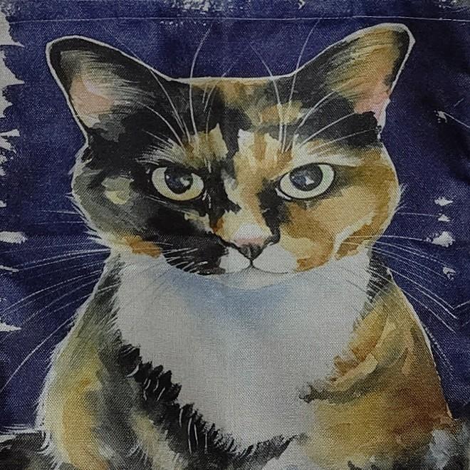 トートバッグ エコバッグ ショッピングバッグ キャンバスバッグ リネン マザーズバッグ ねこ 猫 ネコ 三毛猫 軽量 大容量 収納