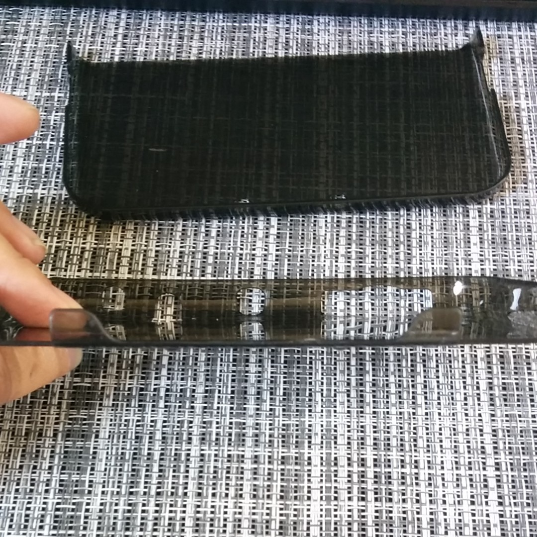 NINTENDO New 3DSLL用PCセパレートカバー クリア&クリアブラック