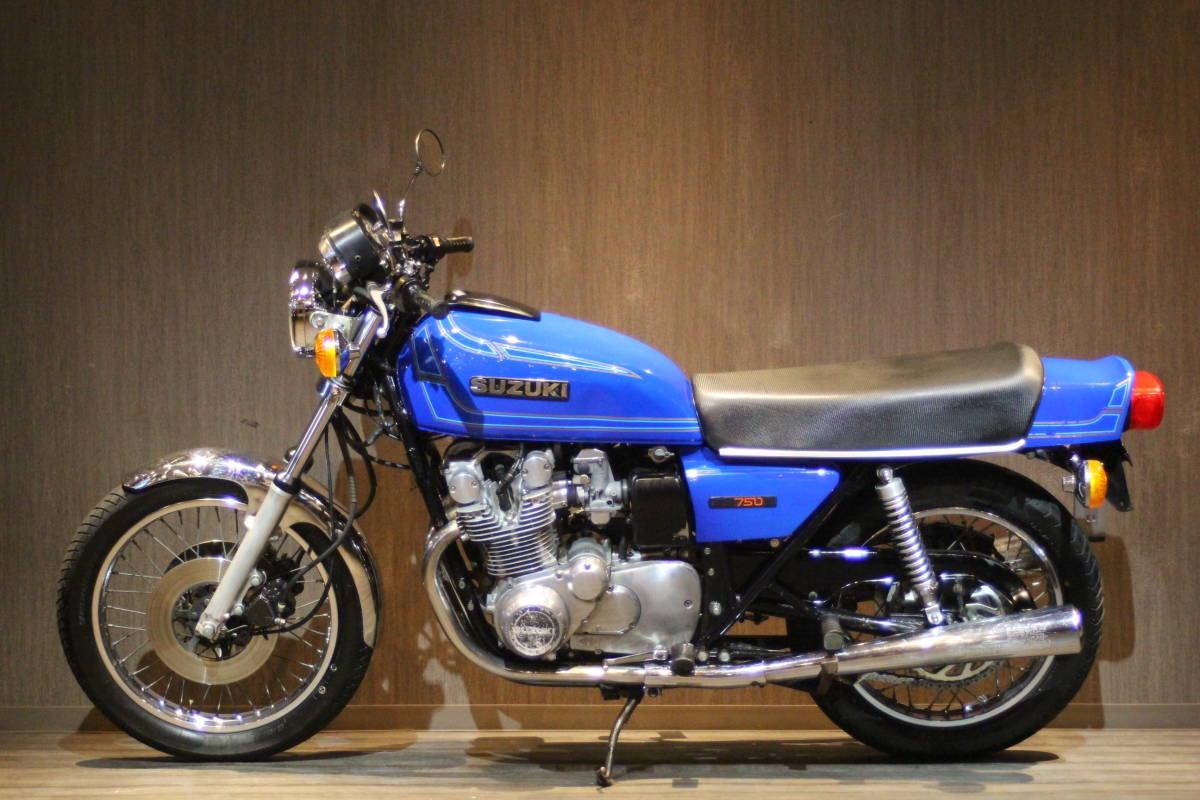 「1977年モデル スズキ GS750D オリジナルコンディション 検無し GS750D」の画像2