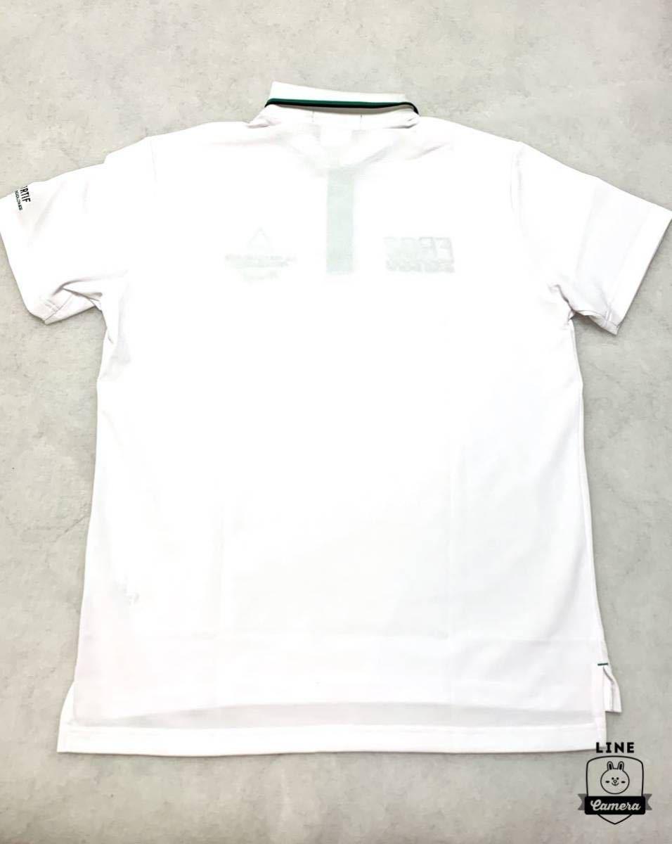 ルコック le coq ゴルフ 正規品 新品未使用 鹿の子 半袖ポロシャツ 【LL、XL】GOLF 吸汗速乾 ドライ ホワイト 白_画像3