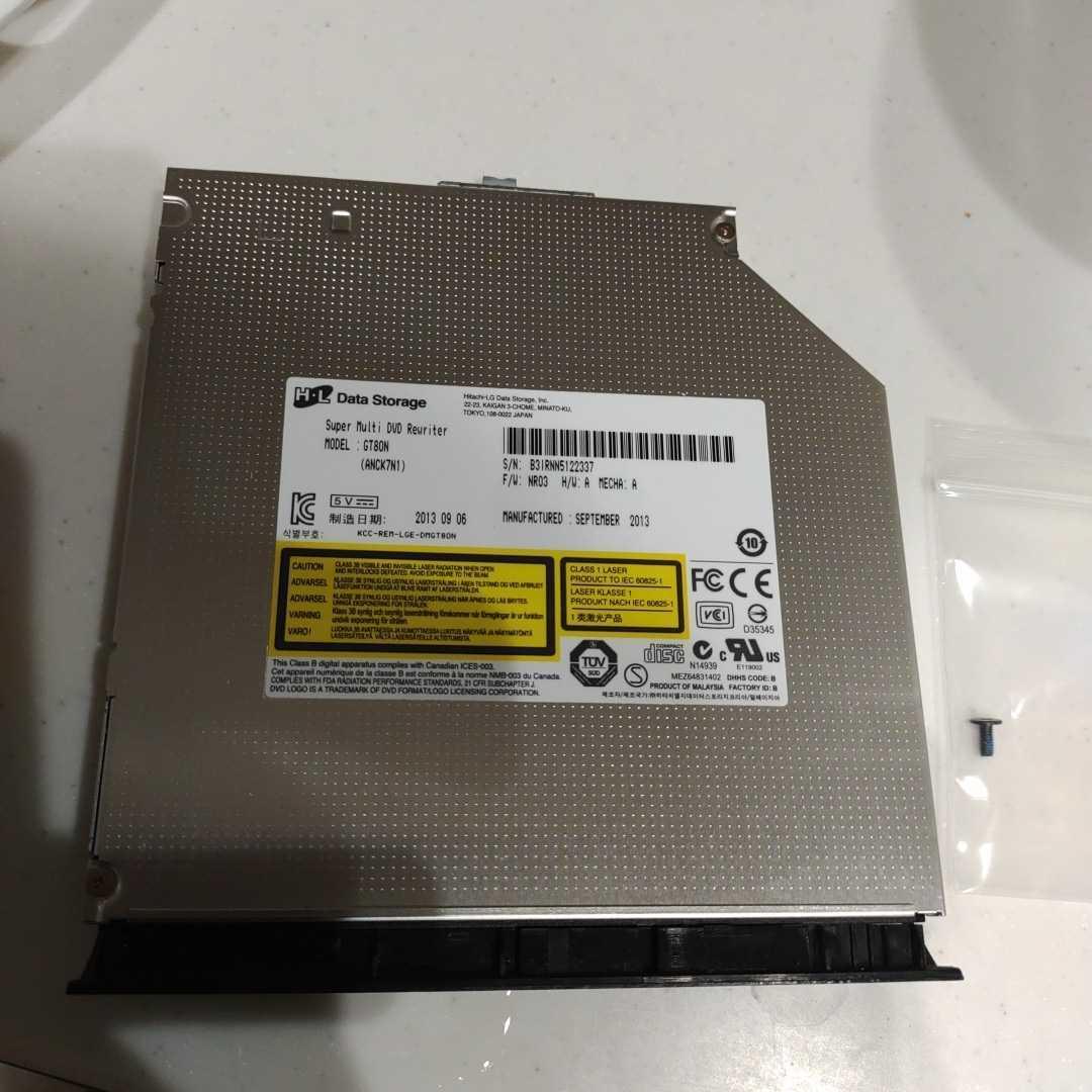 DVDスーパーマルチドライブ GT80N DVD-RW 内蔵 SATA 12.7mm NEC VersaPro NEC PC-VK15EFWDF 等 KMAX
