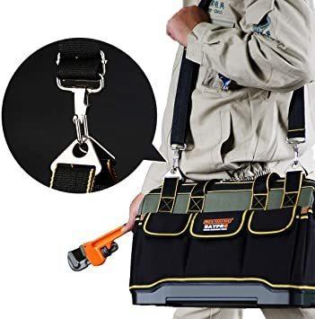 新品34.5x20.5x22CM YZL ツールバッグ 工具袋 ショルダー ベルト付 肩掛け 手提げ 大口収納 GWGF_画像6