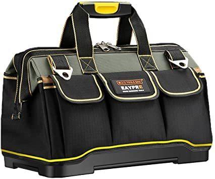 新品34.5x20.5x22CM YZL ツールバッグ 工具袋 ショルダー ベルト付 肩掛け 手提げ 大口収納 GWGF_画像1