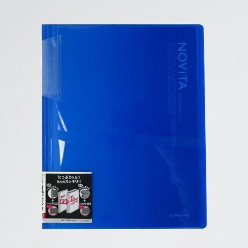 未使用 新品 ファイル コクヨ 1-HC 青 ラ-N20B クリアファイル ノビ-タ 固定式 A4 20ポケット_画像1